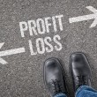 Decision at a crossroad - Profit or Loss — Stock Photo #69617069