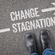 Decision at a crossroad - Change or Stagnation — Stock Photo #69617083