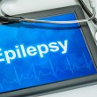 Tablet with the diagnosis Epilepsy on the display — Stock Photo #71329377