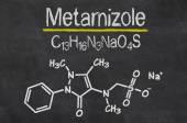 Pizarra con el fórmula químico de Metamizol — Foto de Stock
