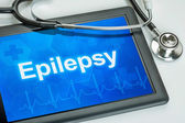 Tablet with the diagnosis Epilepsy on the display — Stock Photo