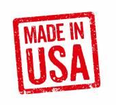 Κόκκινη σφραγίδα - Made in Usa — Φωτογραφία Αρχείου