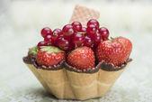 Strawberry and pomegranate — Stock Photo