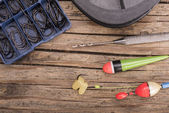 Fishing items — Stock Photo