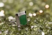 Green stone ring — Stock Photo
