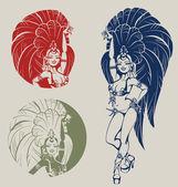 Samba queen dancer — Stock Vector