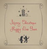 Christmas Santa Elf design — Stock Vector