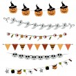 Halloween bunting and garland — Vector de stock  #58651273