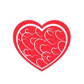 Textured heart — Stock Vector