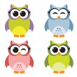 Set of owls — Stock Vector #70637919
