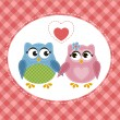Owls in love — Stockvector  #73421019