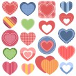 Set of colorful hearts — Stock Vector #73994517