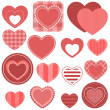Set of red hearts — Stock Vector #73994583