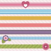 Collection of cute ribbons — Wektor stockowy