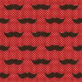 Hintergrund mit Schnurrbart — Stockvektor