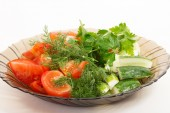 Vegetable slicing — Stock Photo