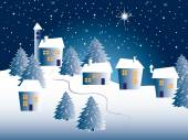 Christmas landscape — Stock Photo