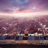 Panorama of Lviv — Stock Photo