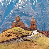 Gergeti christliche Kirche — Stockfoto