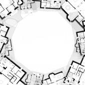Architektonické kreslení — Stock fotografie