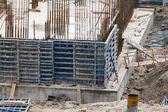 Construction of an apartment house — Stock Photo