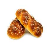 Broodjes op een witte achtergrond — Stockfoto