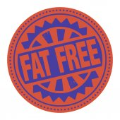 Abstract stamp or label with the text Fat Free — Stock Vector