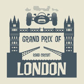 Abstract background with the words Grand Prix of London — Stock Vector