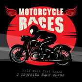 Vintage Motorcycle race poster — Stock Vector