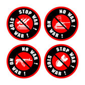 No war signs set — Stock Vector