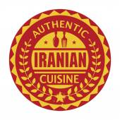 Abstract stamp or label with the text Authentic Iranian Cuisine — Stock Vector