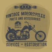 Vintage Motorcycle label or poster — Stock Vector