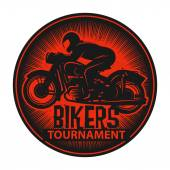 Stamp or label with the words Bikers Tournament inside — Vetorial Stock