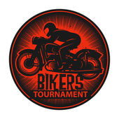 Stamp or label with the words Bikers Tournament inside — Stock Vector