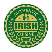 Abstract stamp or label with the text Authentic Irish Cuisine — Stock Vector