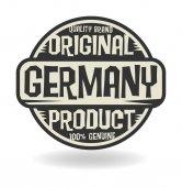 Soyut damga metni özgün ürün Almanya ile — Stok Vektör