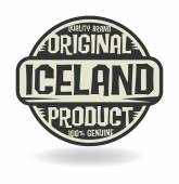 Abstract stamp with text Original Product of Iceland — Stock Vector