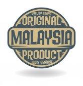 Astratto bollo con il prodotto originale testo della malesia — Vettoriale Stock