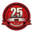 Label 25 anniversary, vector illustration — Vector de stock  #53220313