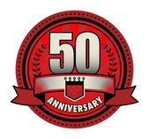 Label 50 anniversary, vector illustration — Stock Vector
