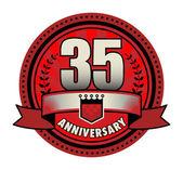 Label 35 anniversary, vector illustration — Stock Vector