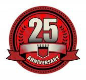 Label 25 anniversary, vector illustration — Stock Vector
