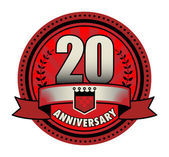 Label 20 anniversary, vector illustration — Stock Vector