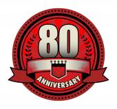 Stamp 80 anniversary, vector illustration — Stock Vector