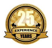 Label with the text 25 Years Experience written inside — Stock Vector