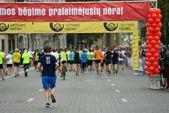 Runners on start of Vilnius Marathon  — Foto de Stock