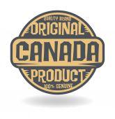 Sello abstracto con el producto original texto de canadá — Vector de stock