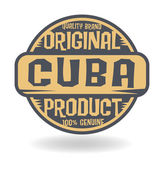 Abstract stamp with text Original Product of Cuba — Stock Vector