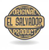 Abstract stamp with text Original Product of El Salvador — Stock Vector