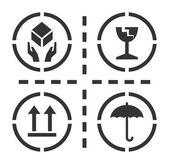 脆弱的符号 — 图库矢量图片